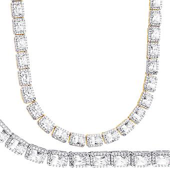 Iced Out Bling Zirconia Tennis Necklace - SQUARE 6mm