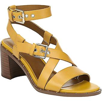 Franco Sarto Womens Halina Leather Open Toe Casual Ankle Strap Sandals