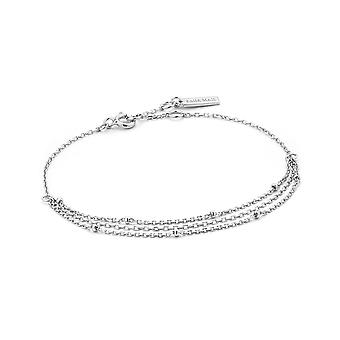 Ania Haie Sterling Silver Rhodium Plated Draping Swing Bracelet B013-02H