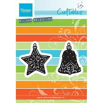 Marianne Design Craftables Tiny's Ornaments Star & Bell Die, Grey
