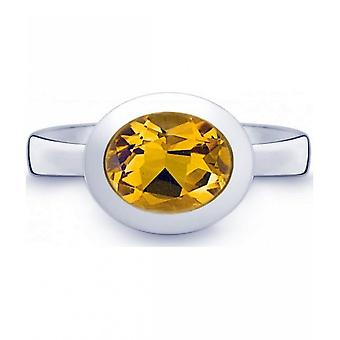 QUINN - Ring - Women - Silver 925 - Gemstone - Citrine - Width 56 - 21402611