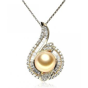Luna-Pearls Diamond Pendant with South Sea Pearl AH29