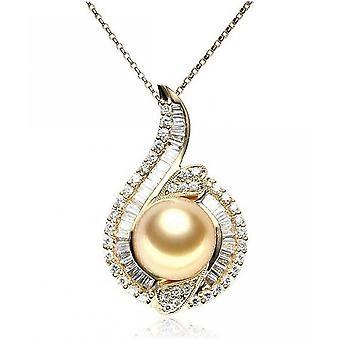 Luna-parels Diamond Pendant met South Sea Pearl AH29