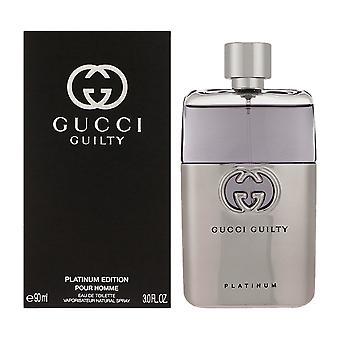 Gucci Guilty platine Eau de Toilette 50ml EDT Vaporisateur