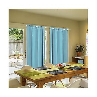 2 Pcs 3 Layers 140X230Cm Blockout Curtains With Soft Gauze