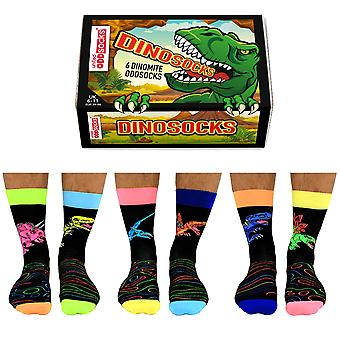 United Oddsocks Dinosocks Gift Set For Men