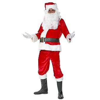Deluxe Santa Father Christmas Fancy Dress Costume