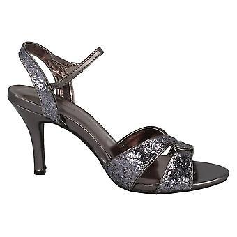 Anne Michelle Womens/Ladies Cross Over Glitter High Heel Sandals