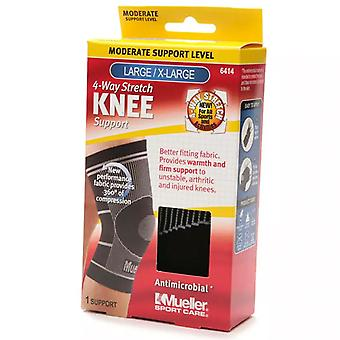 Mueller sport care 4-way stretch knee support, moderate, l/xl, 1 ea