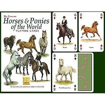 Heste & ponyer af verden sæt med 52 spillekort (+ jokere)