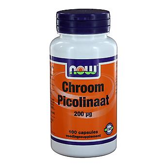 Chroom Picolinaat 200 μg (100 mössor)-nu Foods
