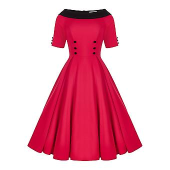 Collectif Vintage vrouwen ' s Carrera Swing jurk