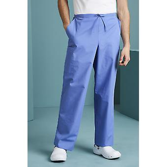 SIMON JERSEY Unissex Fitted Scrub Pants, Metro Blue