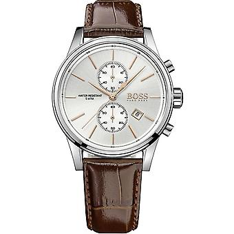 Watch BOSS JET 1513280 - Silver Leather Watch and Men's