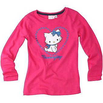 Sanrio Hello Kitty - Charmmy Herzen Mädchen TopT-Hemd mit langen Ärmeln