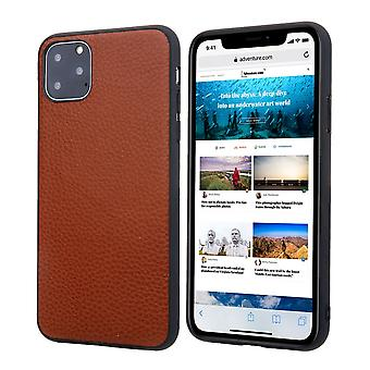 Pour iPhone 11 Pro Case Genuine Leather Durable Slim Fit Protective Cover Brown