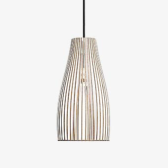 Iumi Ena Cone Shaped Plywood Pendant Lamp - White