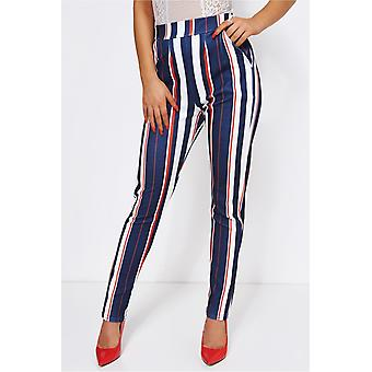 Cara Red & White Stripe Trousers