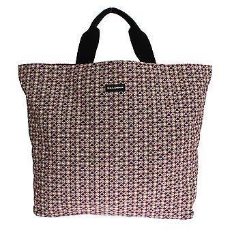 Dolce & Gabbana Multicolor Chapéu Imprimir Algodão Denim Shopping Bag