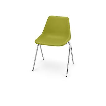 Hille Olive Green Robin Day Poly Side Plastic Chair