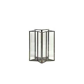 Light & Living Hurricane Star 17x17x20cm Brondby Glass Antique Bronze
