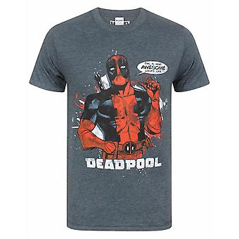"""Marvel Deadpool """"This Is What Awesome Looks Like& Men's Lyhythihainen T-paita"""