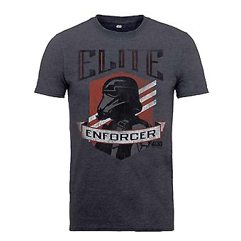 Official Kids Star Wars T Shirt Rogue One Elite Enforcer new Charcoal Grey