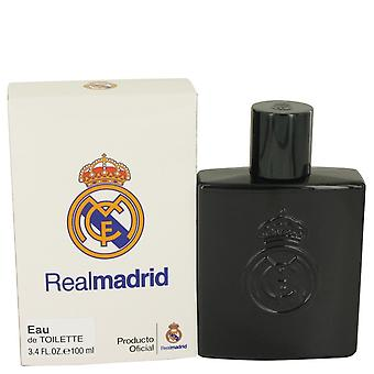 Real Madrid noir par Air Val International Eau De Toilette Spray 3.4 oz/100 ml (hommes)