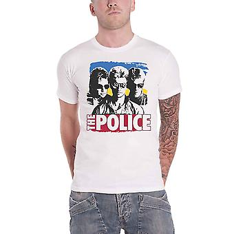The Police T Shirt Band Photo Sunglasses Logo new Official Mens White