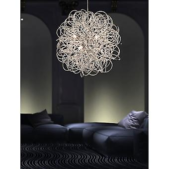 Firstlight Spiral Industrial Chrome Messy Wire Ceiling Pendant Light