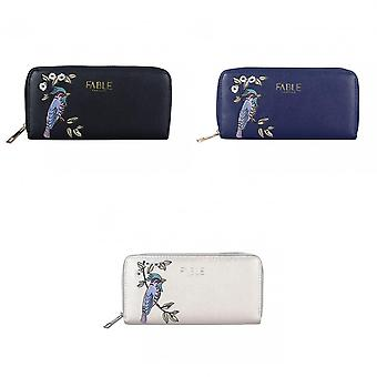 Fable Womens/Ladies Bird Embroidered Large Purse