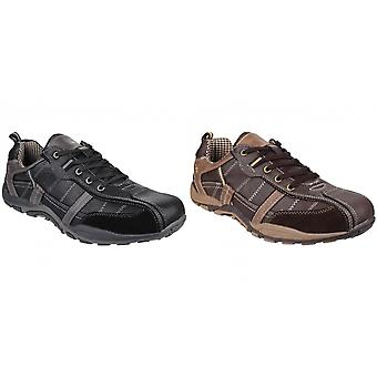 Fleet & Foster Mens Portsmouth Classic Lace Up Casual Shoe