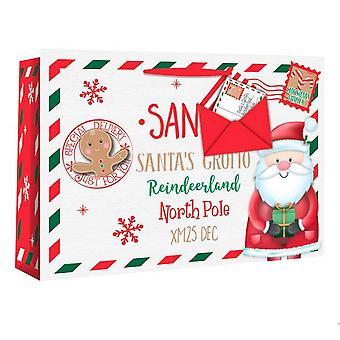 Eurowrap Santa Envelope Christmas Gift Bags (Pack of 12)