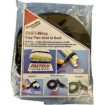 FASTECH® 702-330-Bag Cinta de gancho y lazo para plantas domésticas y almohadilla de gancho y lazo de jardín (L x W) 10000 mm x 16 mm Negro 10 m