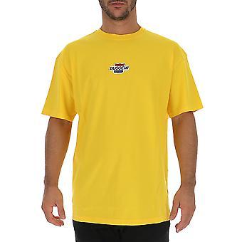 Buscemi Bmw19242yellow Men's Yellow Cotton T-shirt
