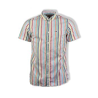 Tommy Jeans Striped Short-Sleeved Shirt (Multicolour)