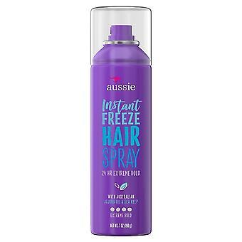 Aussie instant freeze 24 hr hairspray, extreme hold, 7 oz