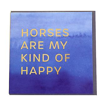 Gubblecote Horses My Kind Of Happy Foiled Greetings Card