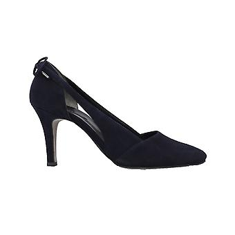 Paul Green 3546-02 Blue Suede Leather Womens Slip On Stiletto Heel Court Shoes