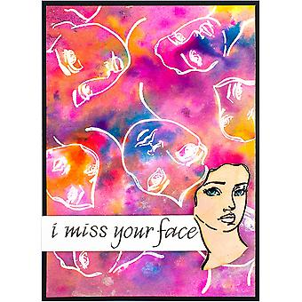 Jane Davenport Clear Stamps - Faces