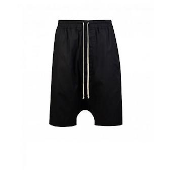 Rick Owens Drk Shdw Drawstring Woven Pods Shorts