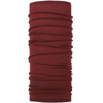 Buff Unisex Lightweight Merino Wool Protective Outdoor Tubular Bandana - Wine