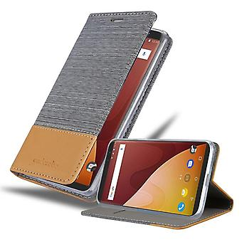 Cadorabo case for WIKO VIEW PRIME case case cover - mobile phone case with magnetic clasp, stand function and card compartment – Case Cover Protective Case Case Book Folding Style