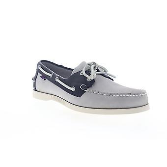 Sebago Spinnaker Nubuck FGL  Mens Gray Nubuck Casual Boat Shoes