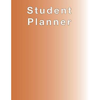 Burnt Orange Planner Agenda Organizer for STUDENTS undated large 8.5 x 11 Weekly View Monthly View Yearly View by Terrazas & April Chloe
