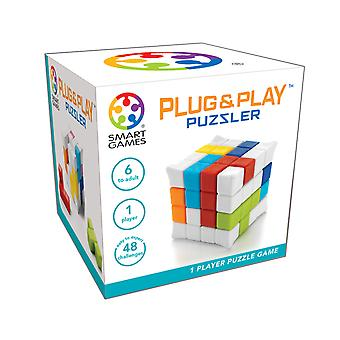 SmartGames Plug & Play Puzzler 3D Cube Puzzle Game Brain Teaser With 48