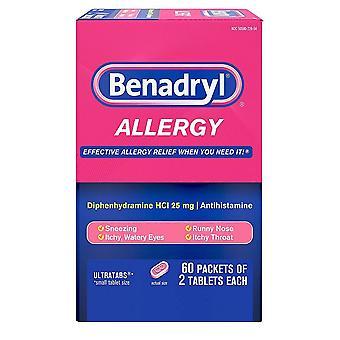 Alergia al benadryl, ultratab, 60 ea