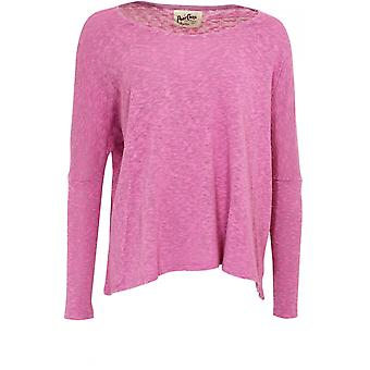 A Postcard from Brighton Pink Textured Knit Top