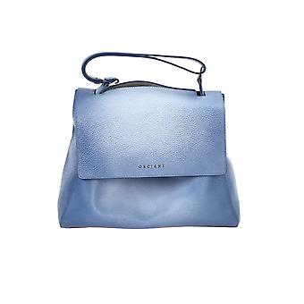 Orciani B02006softblue Women's Blue Leather Handbag