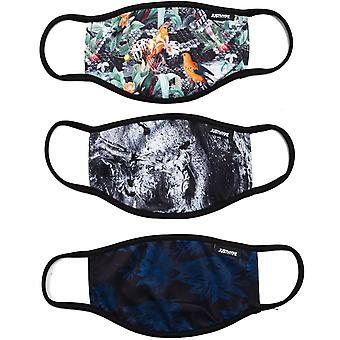 Hype Face Mask 3 Pack Adult Dark Nature Multi 55